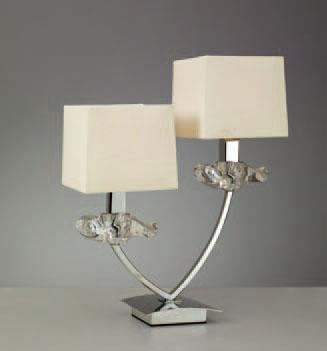 Akira Table Lamp Chrome/Cream 2L