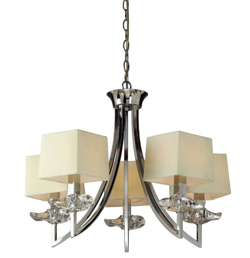 Akira Pendant Lamp Chrome/Cream 5L