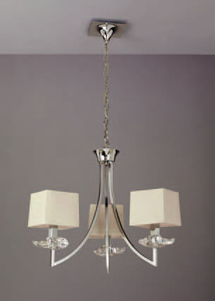 Akira Pendant Lamp Chrome/Cream 3L