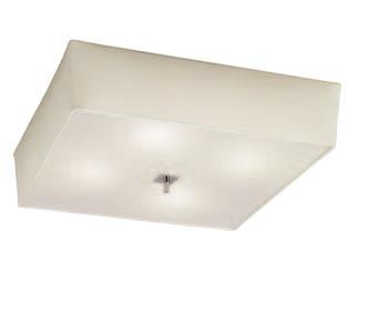 Akira ceiling lamp Chrome/Cream 4L