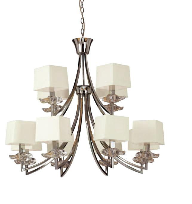 Akira Pendant Lamp Chrome/Cream 8 + 4L