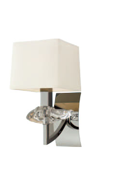 Akira Wall Lamp Chrome/Cream 1L