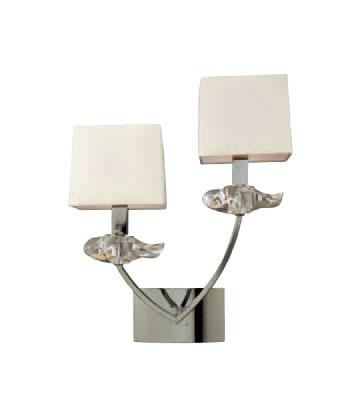 Akira Wall Lamp Chrome/Cream 2L
