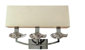 Akira Wall Lamp Chrome/Cream 3L