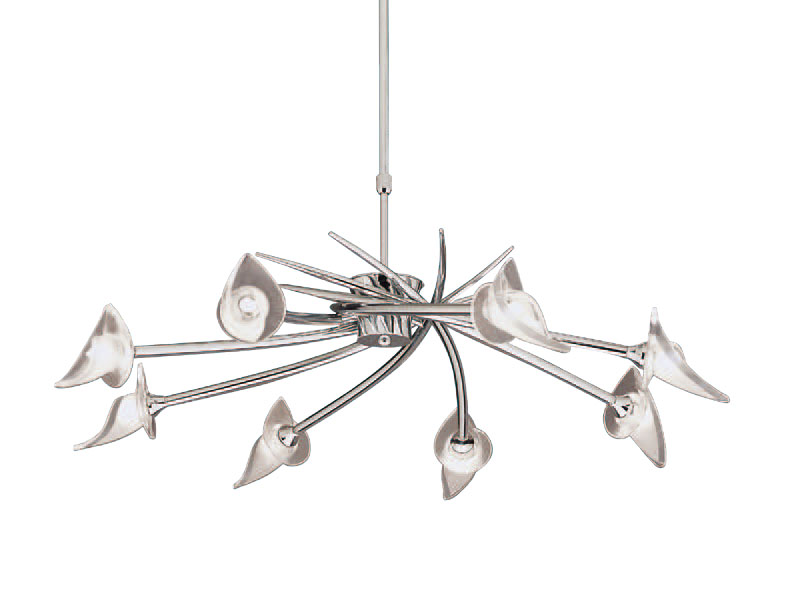 Flavia lámpara Pendant Lamp telescópica bright chrome 8L