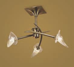 Flavia Lâmpada Semilâmpada do teto couro 3L