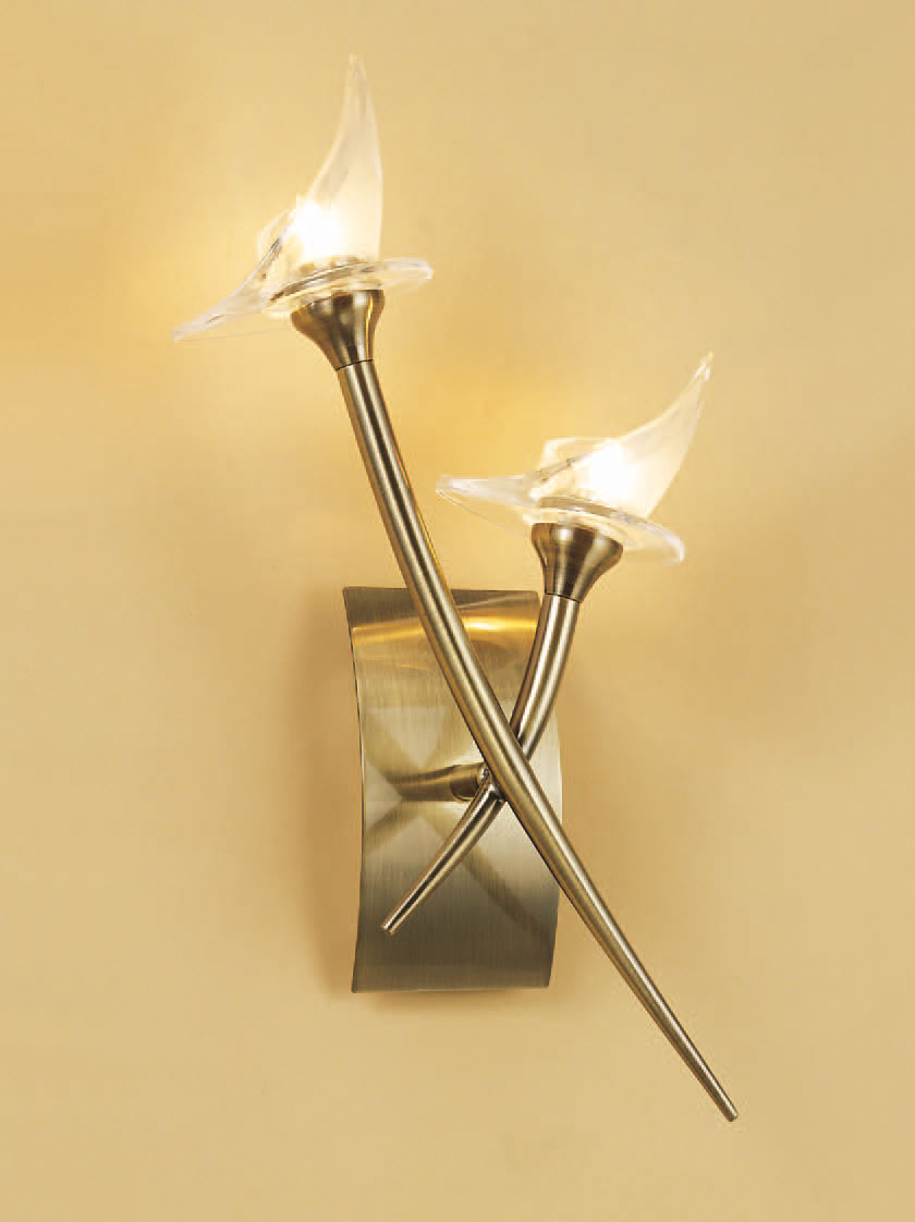 Flavia Wall Lamp bright chrome 2L