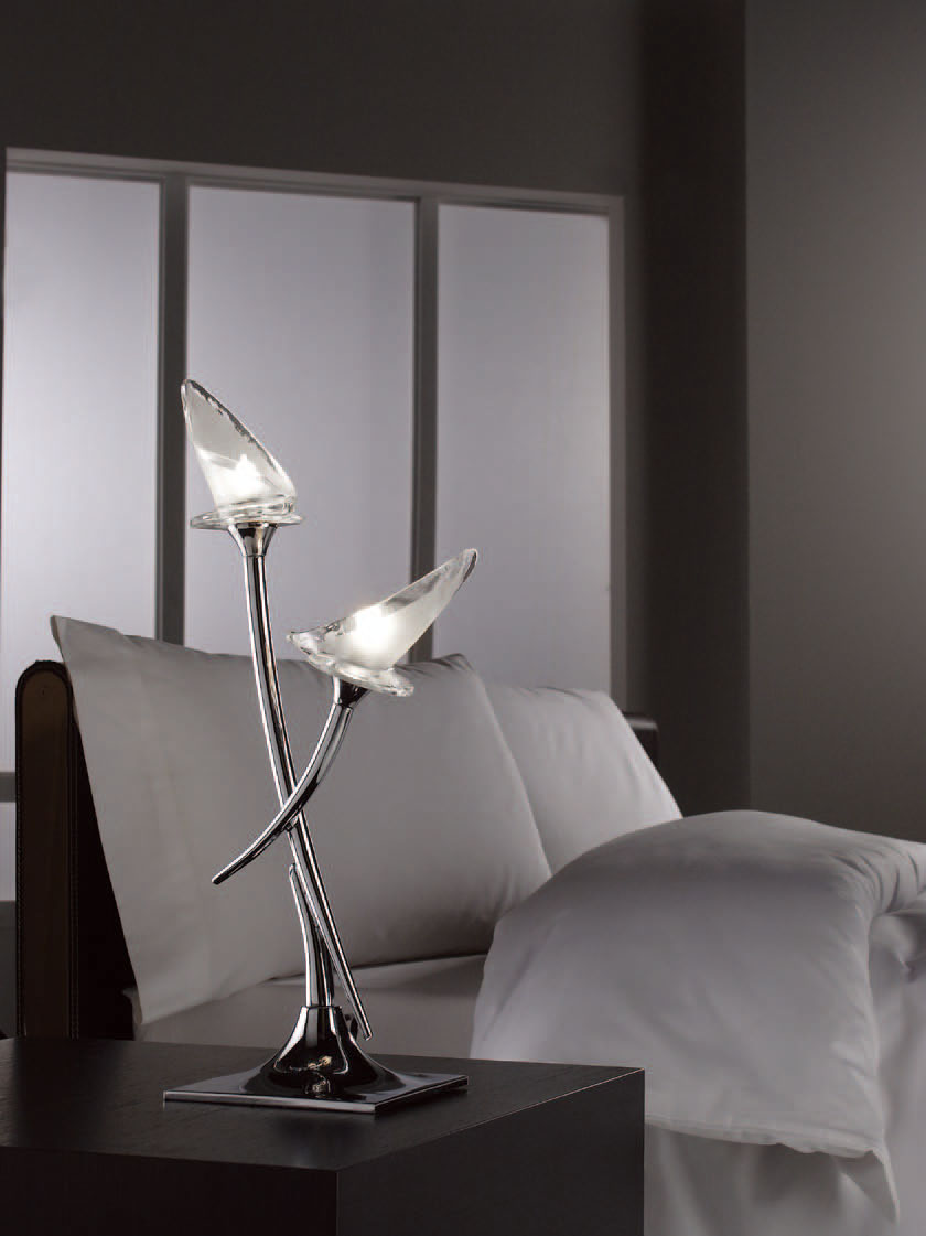 Flavia Table Lamp bright chrome 2L