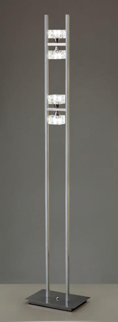 Zen lámpara de Lâmpada de assoalho Cromo 4L + Dimmer