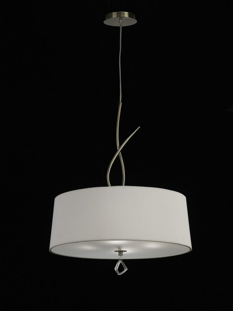 Mara Pendant Lamp ø55cm 4xE27 20w leather/white