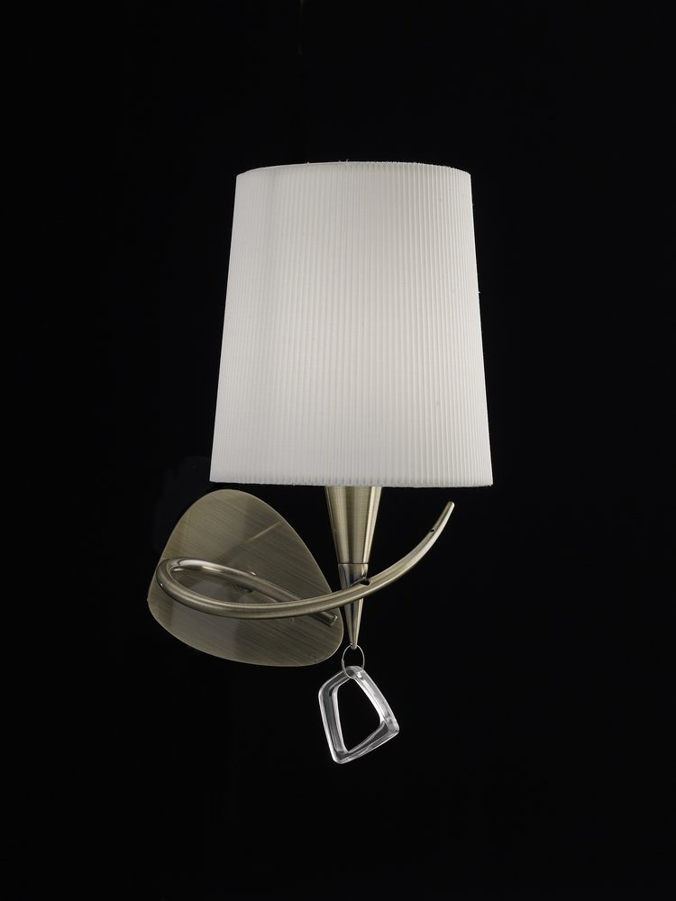 Mara Wall Lamp 15cm E14 20w leather white