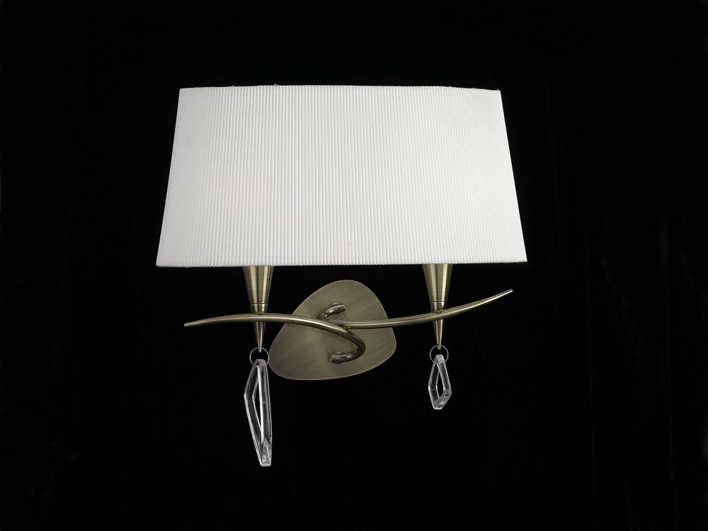 Mara Wall Lamp Doble 38cm 2xE14 20w leather white