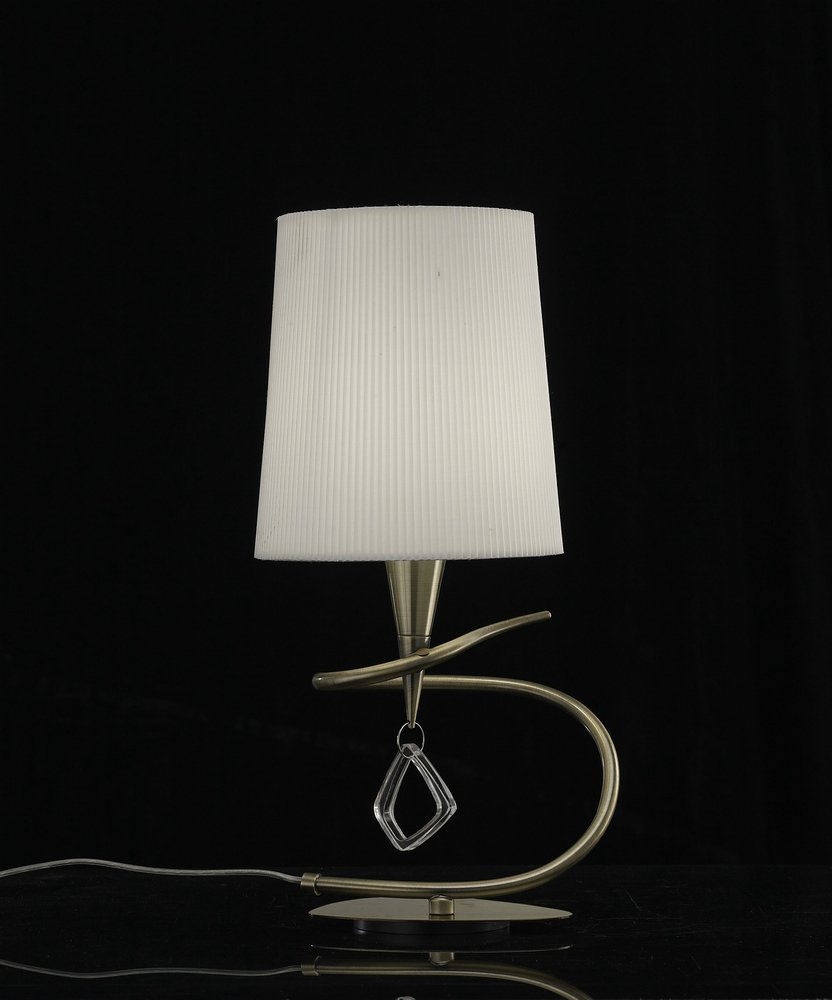 Mara Table Lamp 37cm E14 20w leather/white