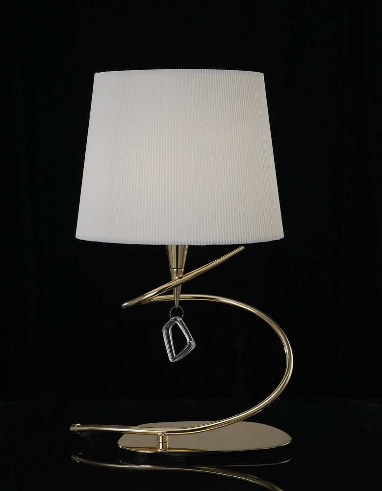 Mara Table Lamp 46cm E14 20w leather/white