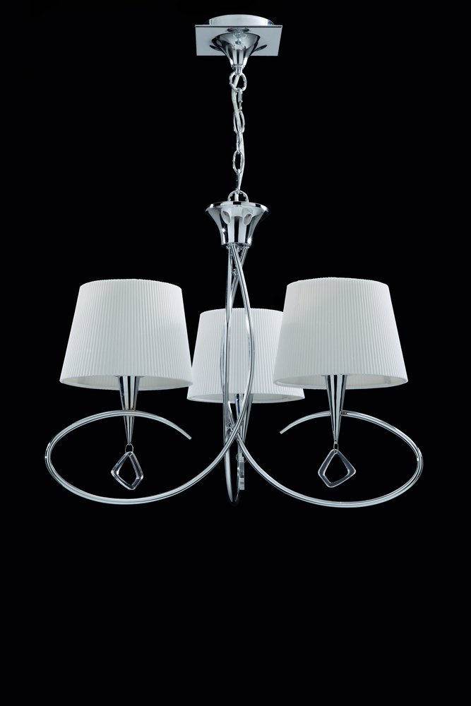 Mara Pendant Lamp triple ø64cm 3xE14 20w Chrome white