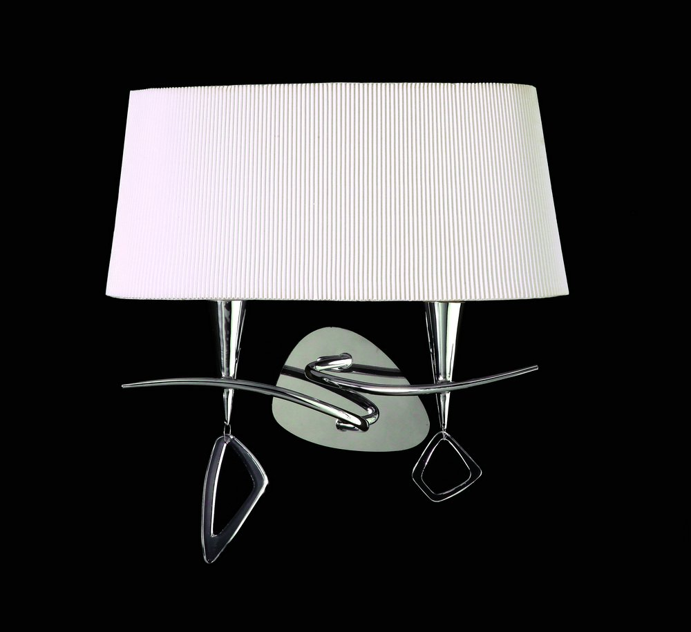 Mara Wall Lamp Doble 38cm 2xE14 20w Chrome white
