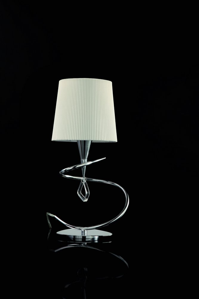 Mara Table Lamp 37cm E14 20w Chrome/white