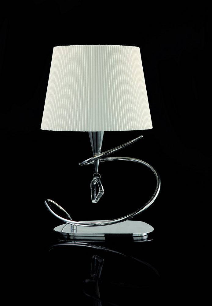 Mara Table Lamp 46cm E14 20w Chrome/white