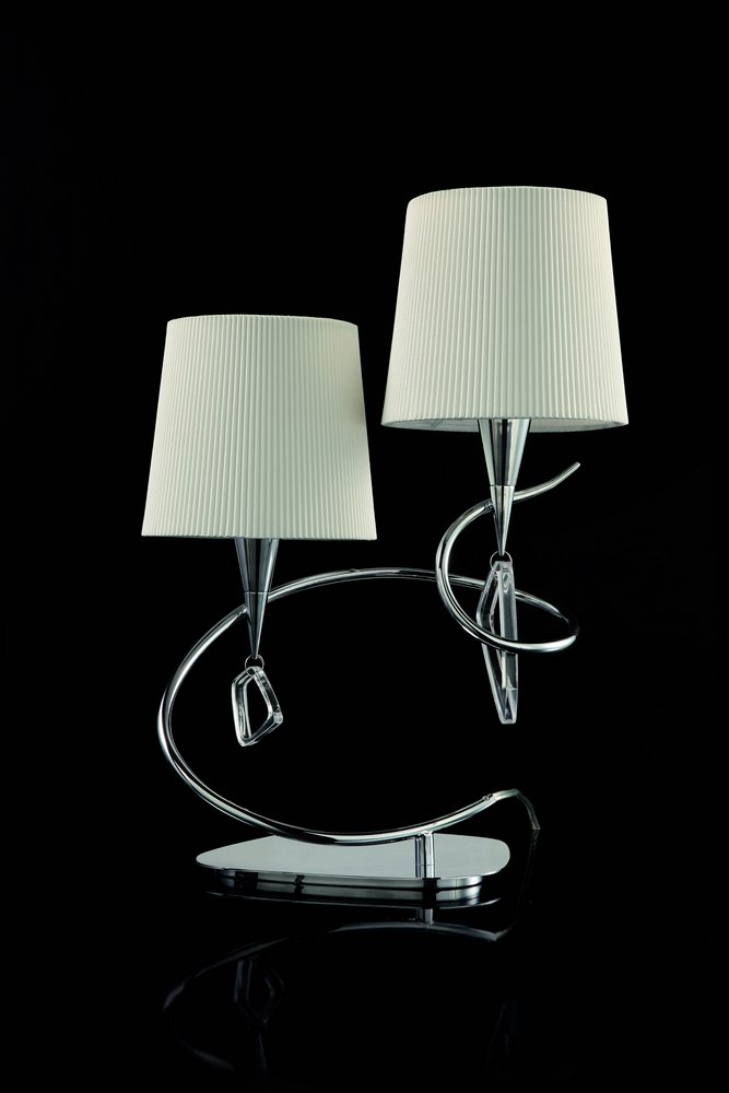 Mara Table Lamp Doble 51cm 2xE14 20w Chrome/white