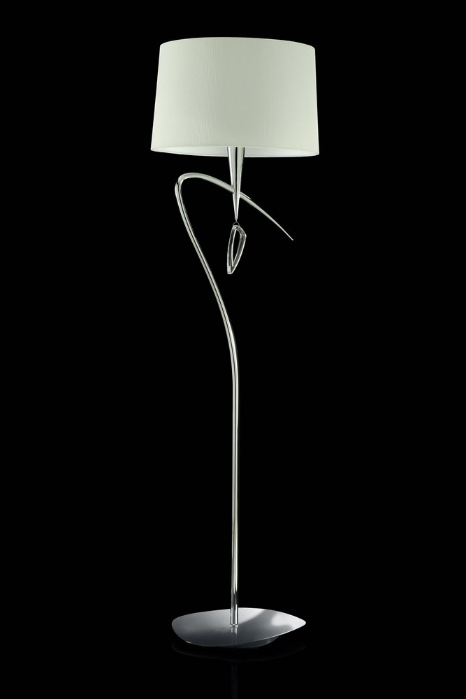 Mara lámpara of Floor Lamp 177,5cm 3xE27 20w Chrome/white