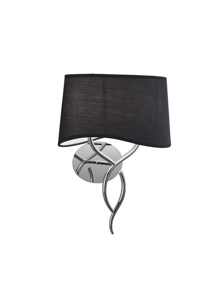 Mara Wall Lamp Doble 38cm 2xE14 20w Chrome Black