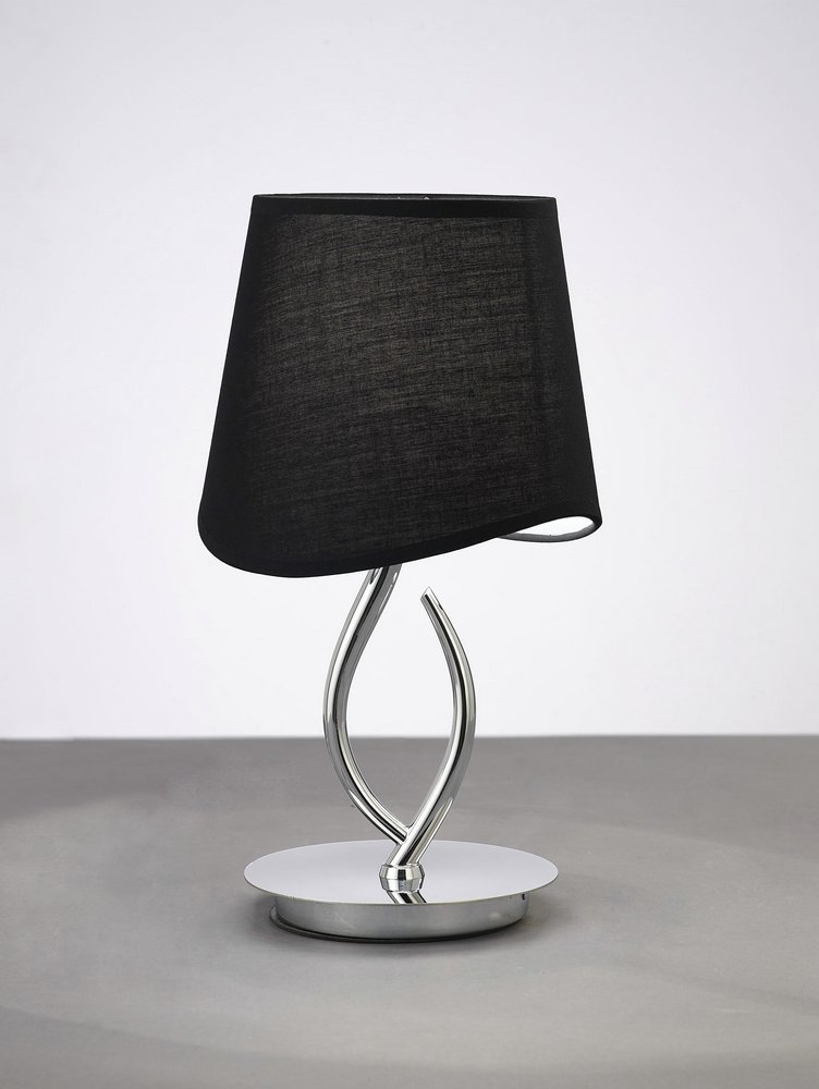 Mara Table Lamp 37cm E14 20w Chrome/Black