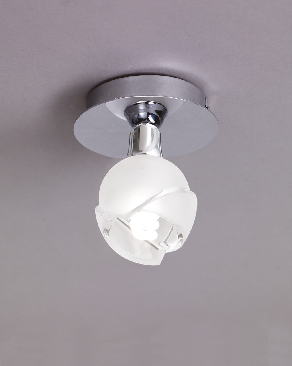 Bali ceiling lamp Chrome 1L E14