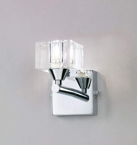 Cuadrax Wall Lamp Chrome/Optico 1L