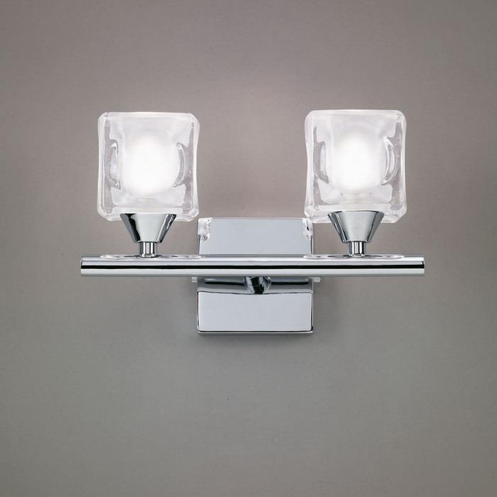 Cuadrax Wall Lamp Chrome 2L