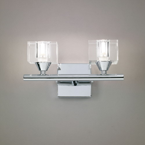Cuadrax Wall Lamp Chrome/Optico 2L
