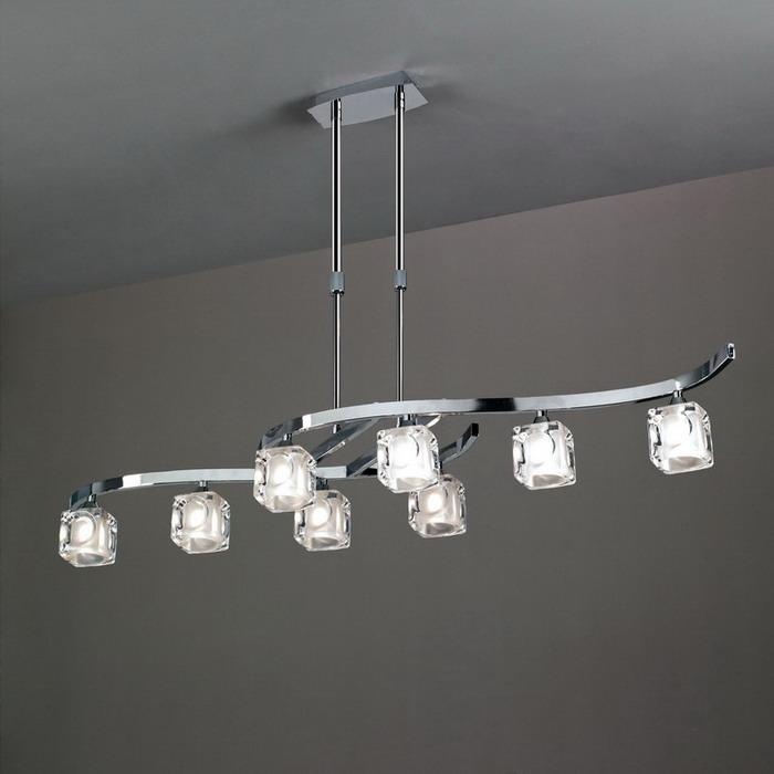Cuadrax lámpara Pendant Lamp telescópica Chrome 8L