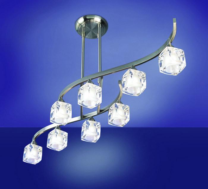 Cuadrax lámpara Pendant Lamp telescópica Nickel Satin 8L