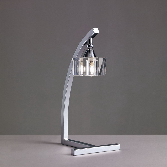 Cuadrax Table Lamp Chrome/Optico 1L
