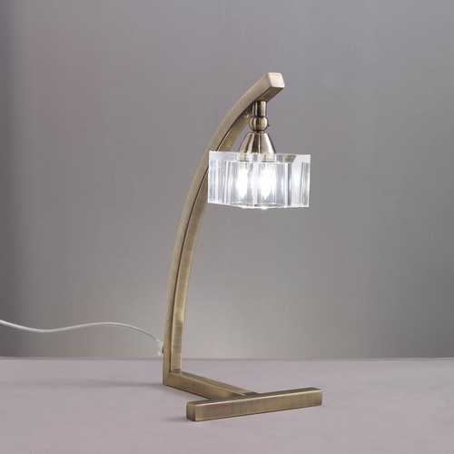 Cuadrax Table Lamp leather/Optico 1L