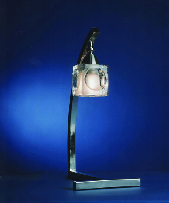 Cuadrax Table Lamp Nickel Satin/Optico 1L