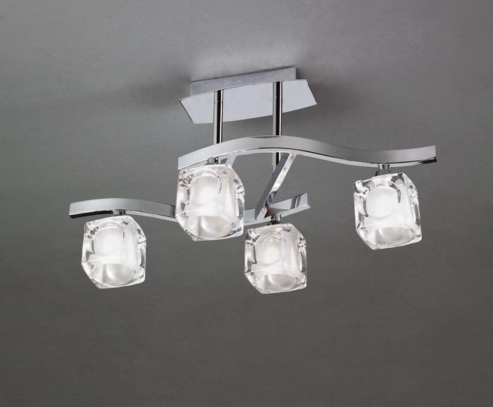 Cuadrax Lamp Semiceiling lamp Chrome 4L