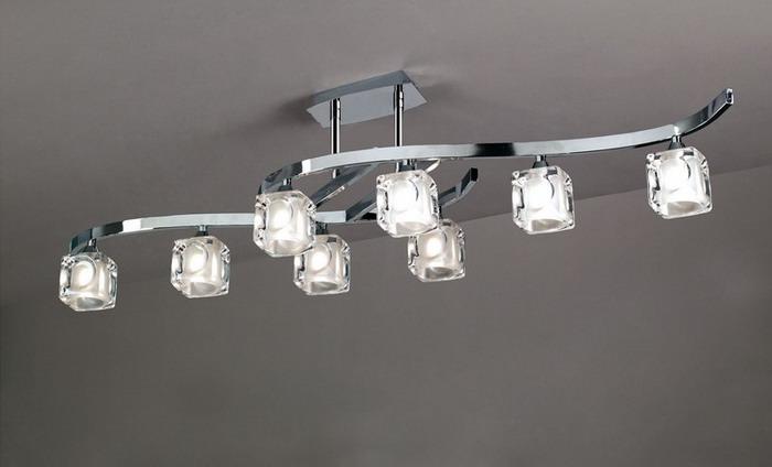 Cuadrax Lamp Semiceiling lamp Chrome 8L