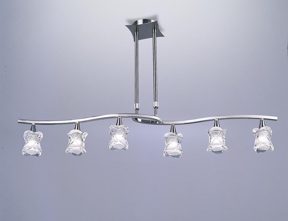 Rosa del Desierto Pendant Lamp linear Nickel Satin 6L