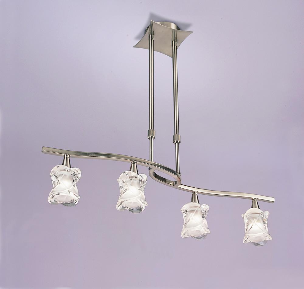 Rosa del Desierto Pendant Lamp linear Nickel Satin 4L
