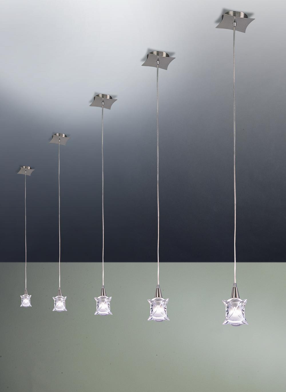 Rosa del Desierto Pendant Lamp Nickel Satin 1L