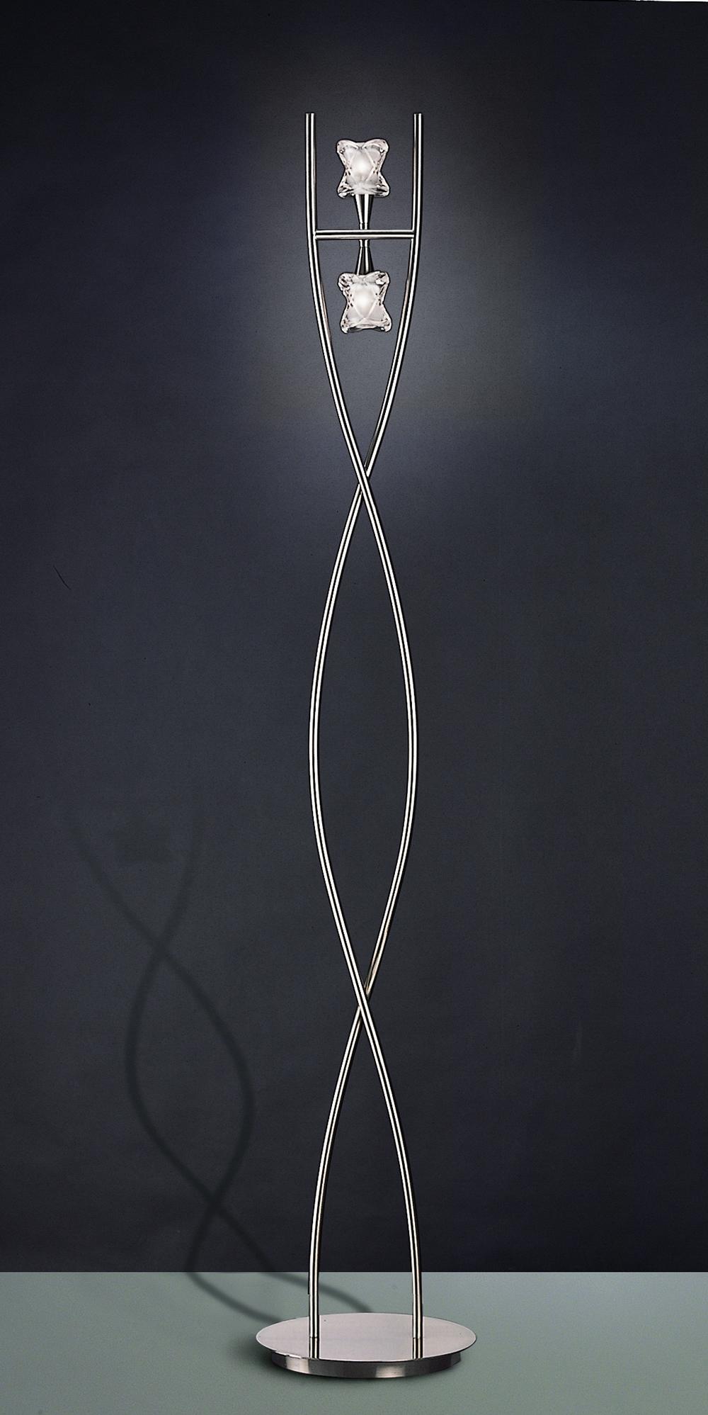 Rosa del Desierto lámpara de Pie Níquel Satinado 2L