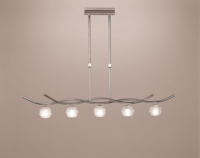 Dali Pendant Lamp linear bright chrome 5L