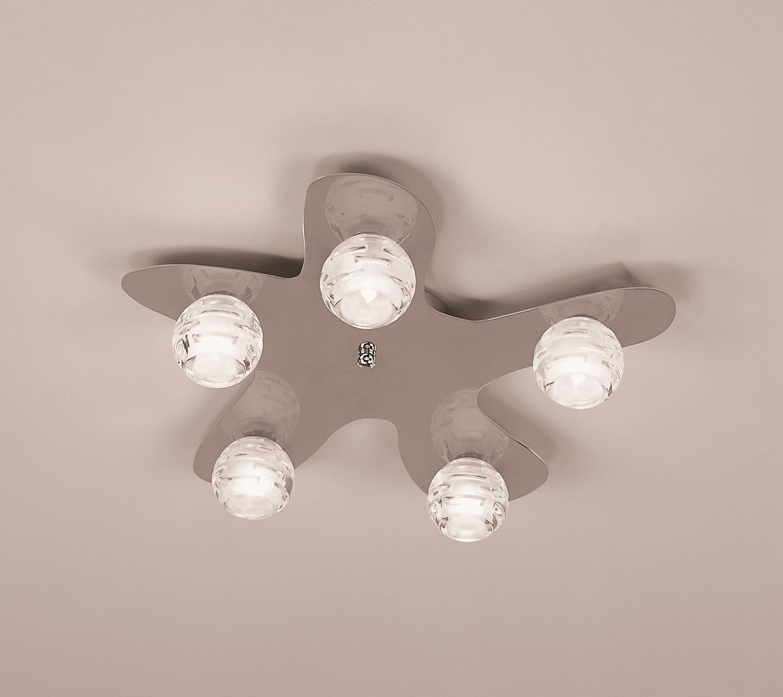 Dali ceiling lamp bright chrome 5L