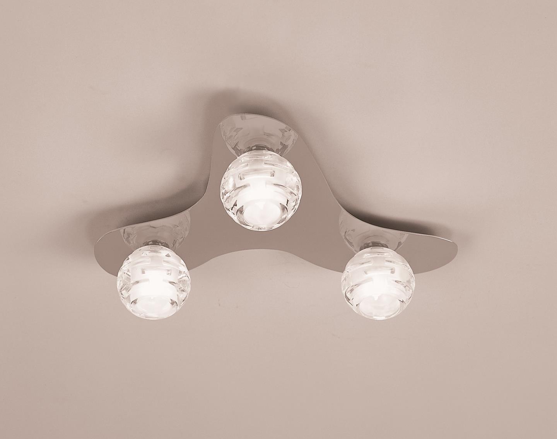 Dali ceiling lamp bright chrome 3L
