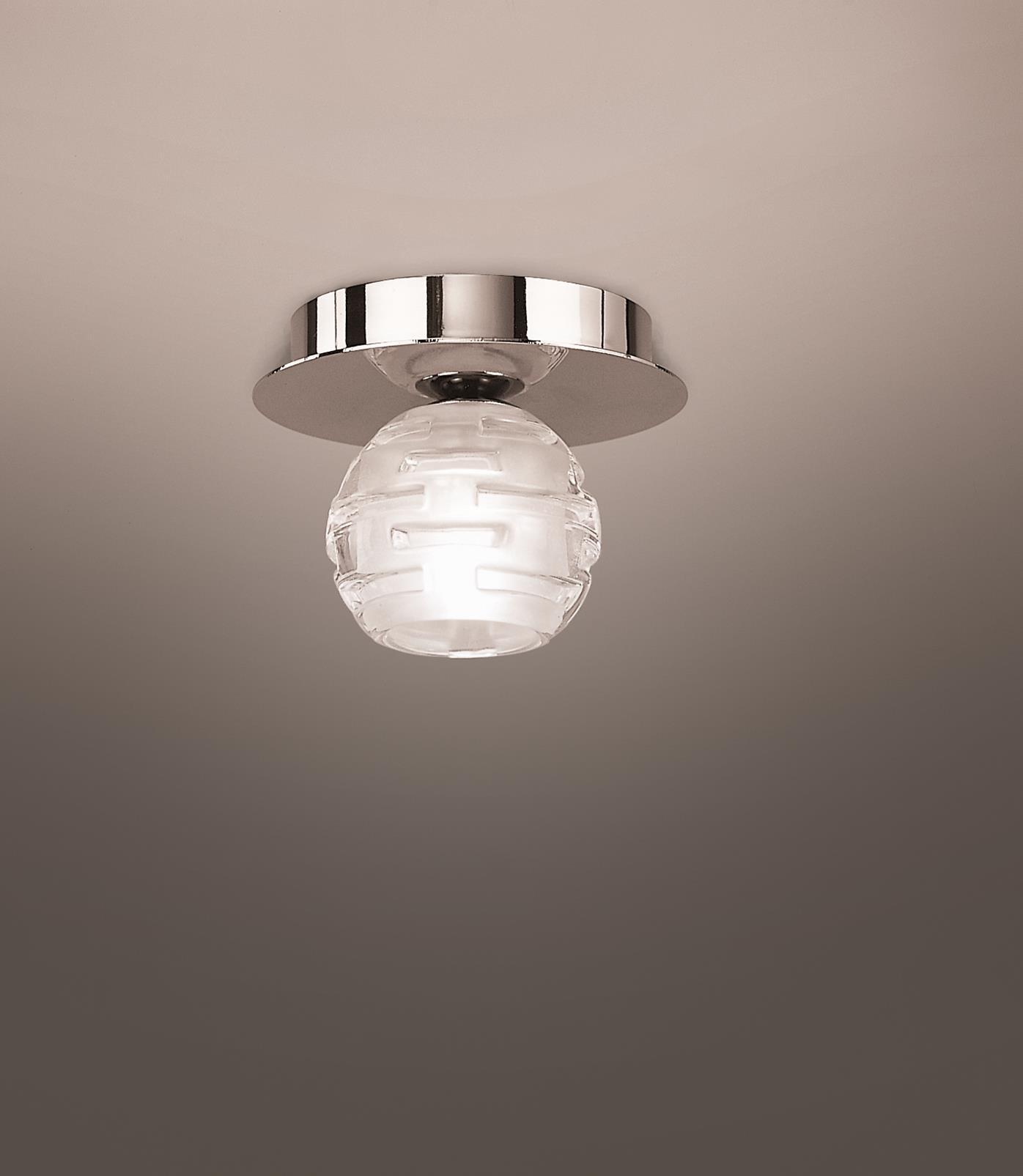 Dali ceiling lamp bright chrome 1L