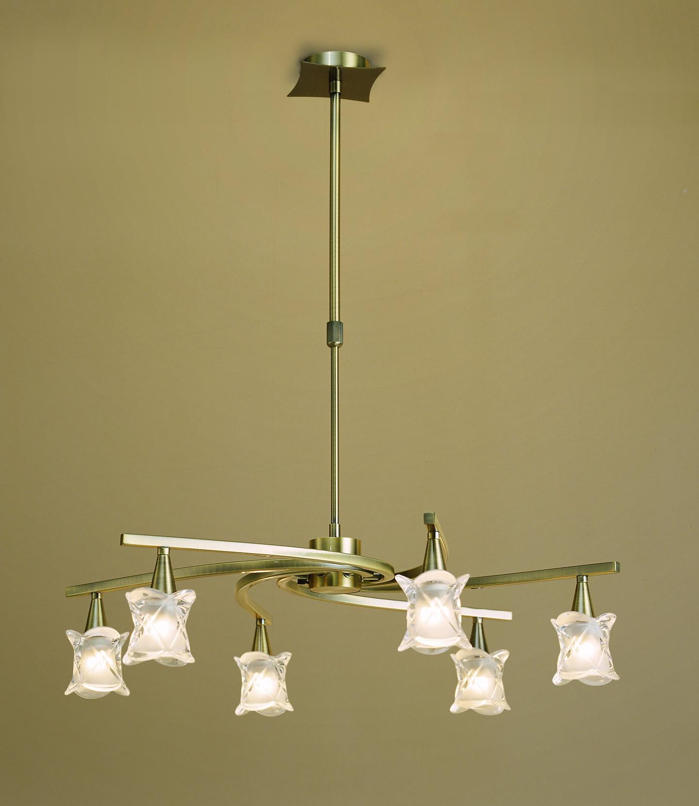 Rosa del Desierto Pendant Lamp leather 6L