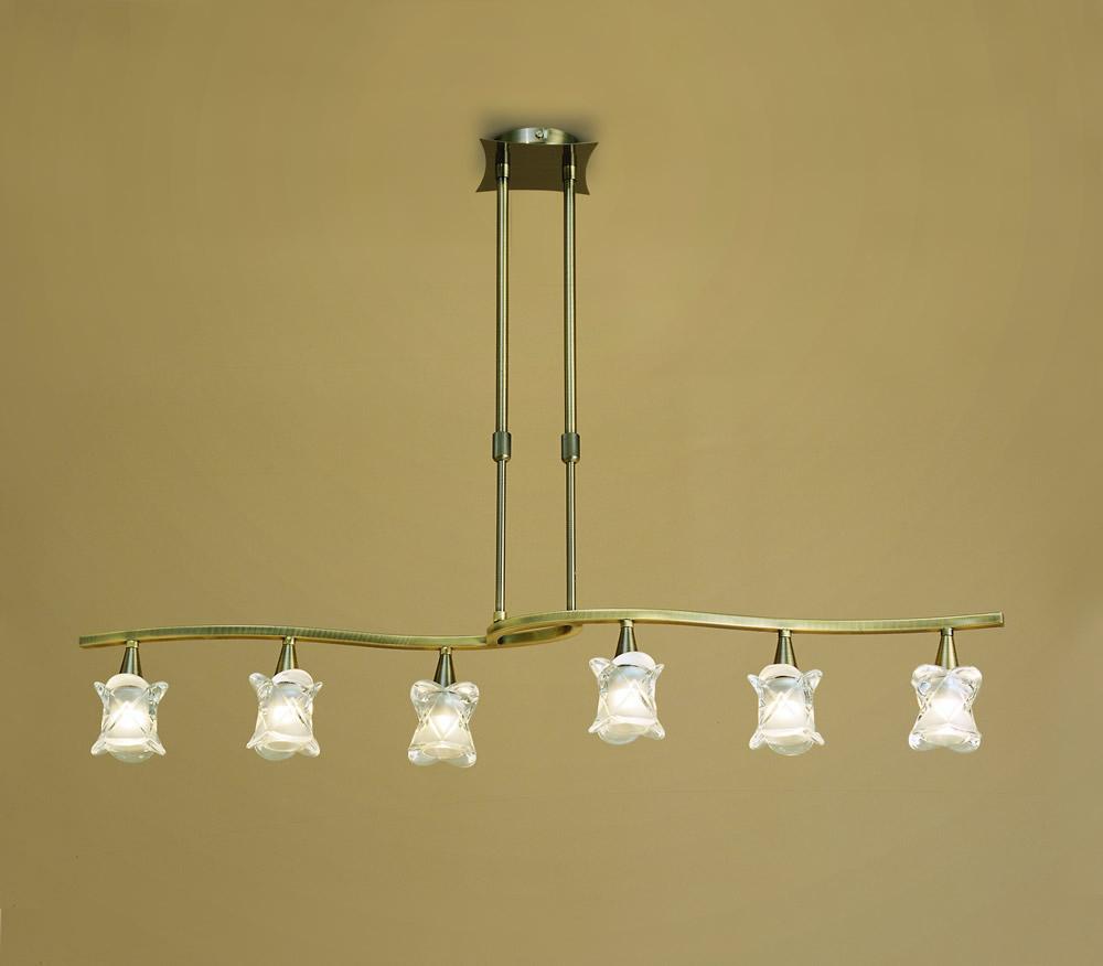 Rosa del Desierto Pendant Lamp linear leather 6L