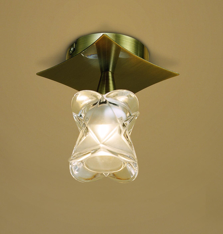 Rosa del Desierto ceiling lamp leather 1L