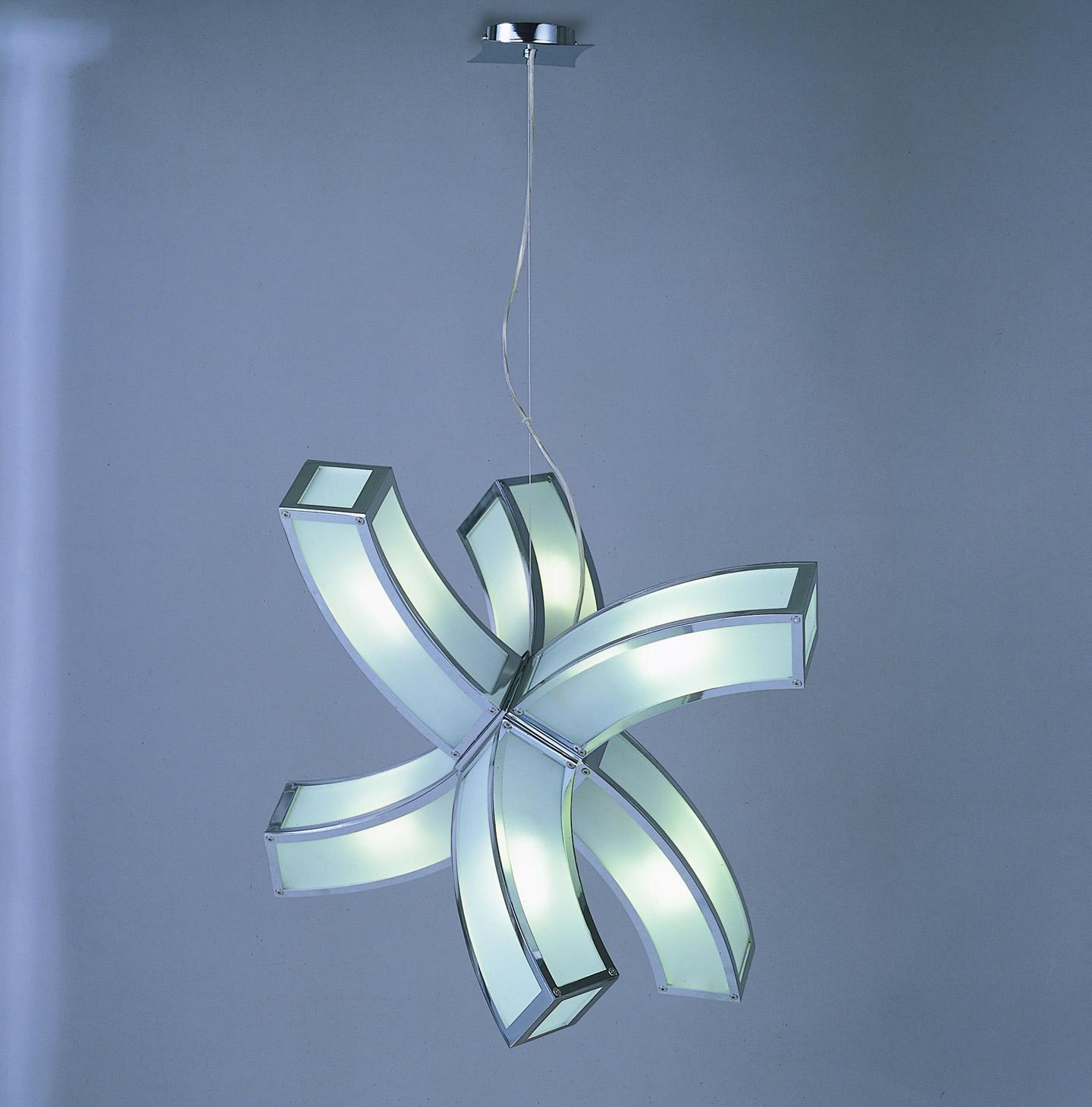 Duna Pendant Lamp Estrella Chrome 6L