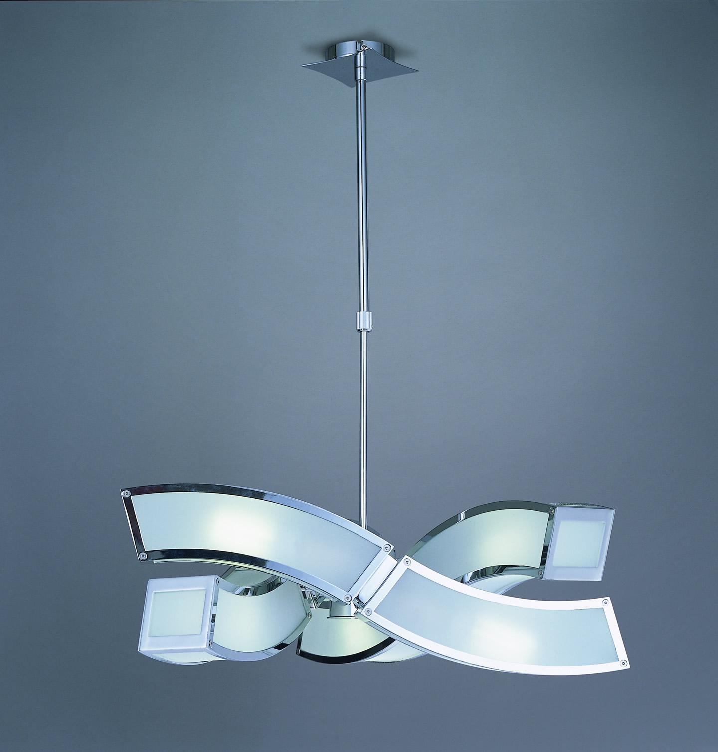Duna Pendant Lamp Chrome 6L